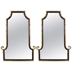 Pair of Mid-Century Chippendale Style Mirrors