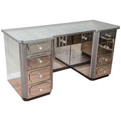 Superb Mirrored Dressing Table Vanity with Nine Drawers