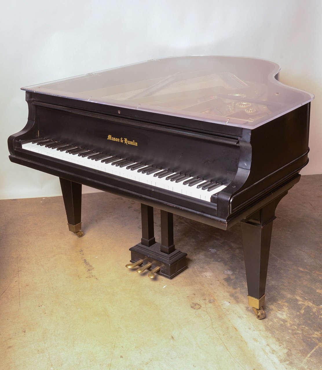 Mason & Hamlin Grand Piano with Lucite Top 2
