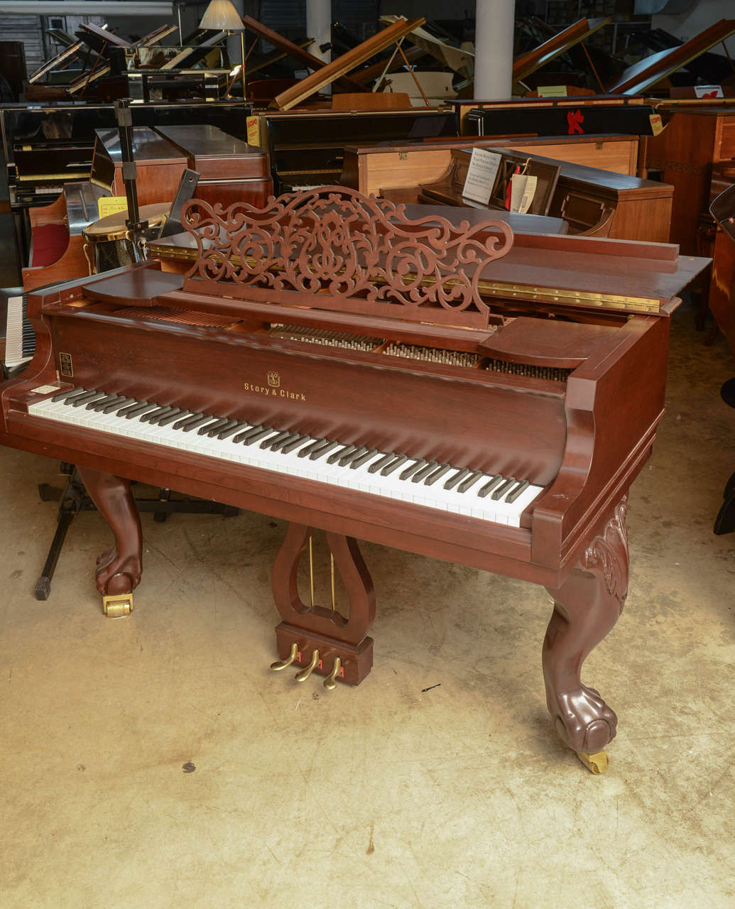 Story & Clark Baby Grand Piano with Bench 10