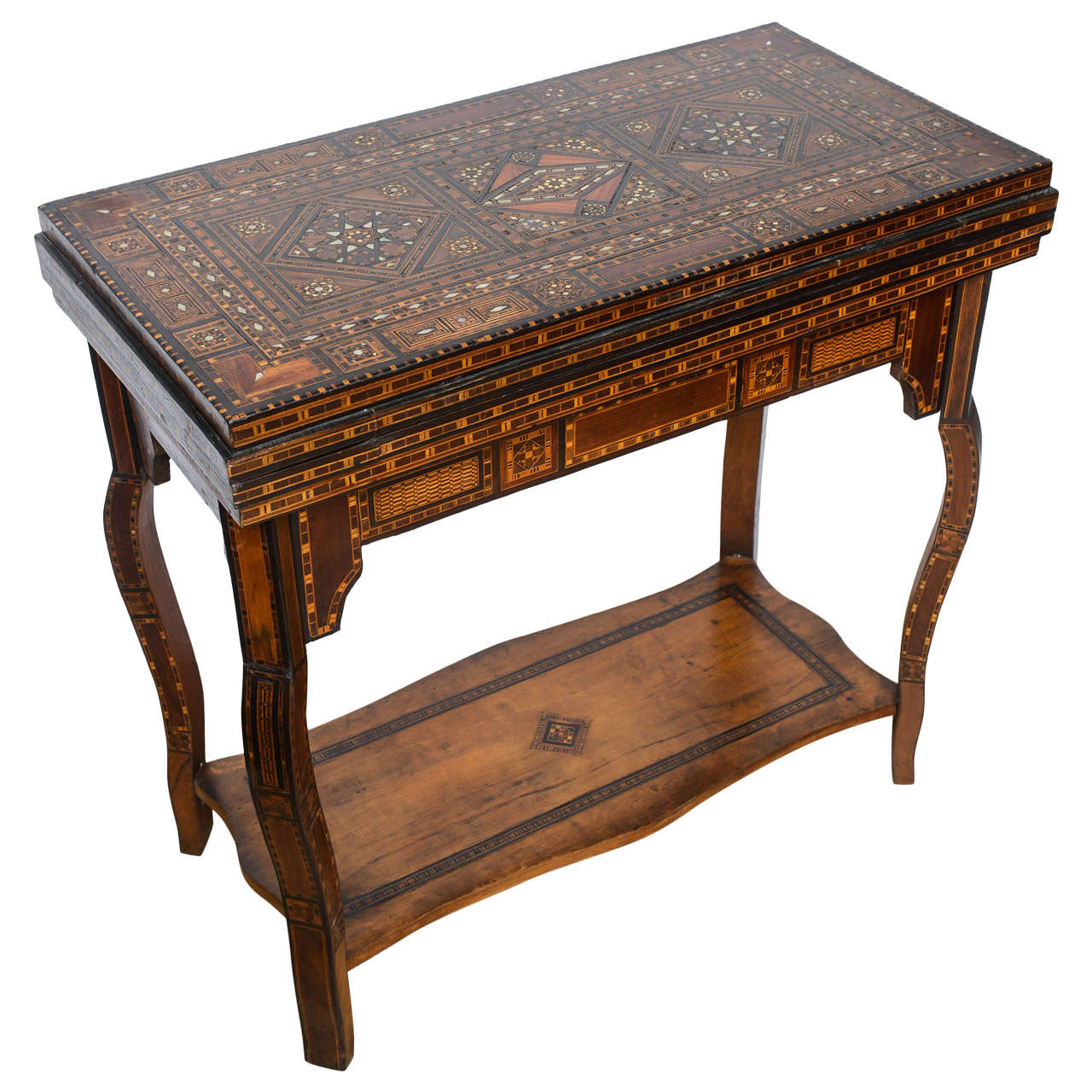 Moroccan Games Or Console Table With Inlays, Circa 1900 At 1stdibs