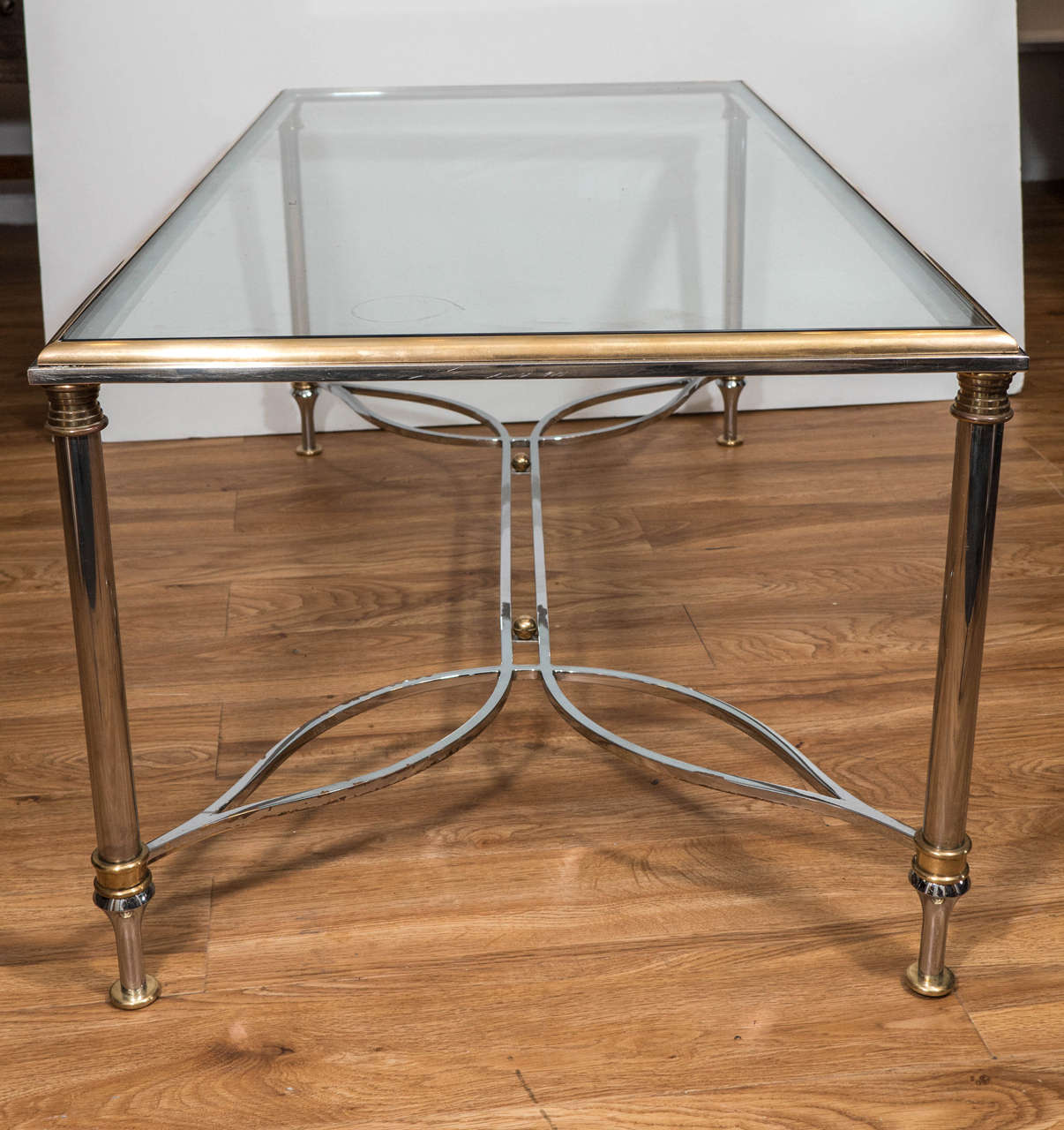 1970s Brass Rectangular Coffee And Cocktail Table With