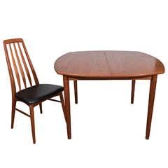 Mid-Century Koefoeds Hornslet Teak Extension Dining Table