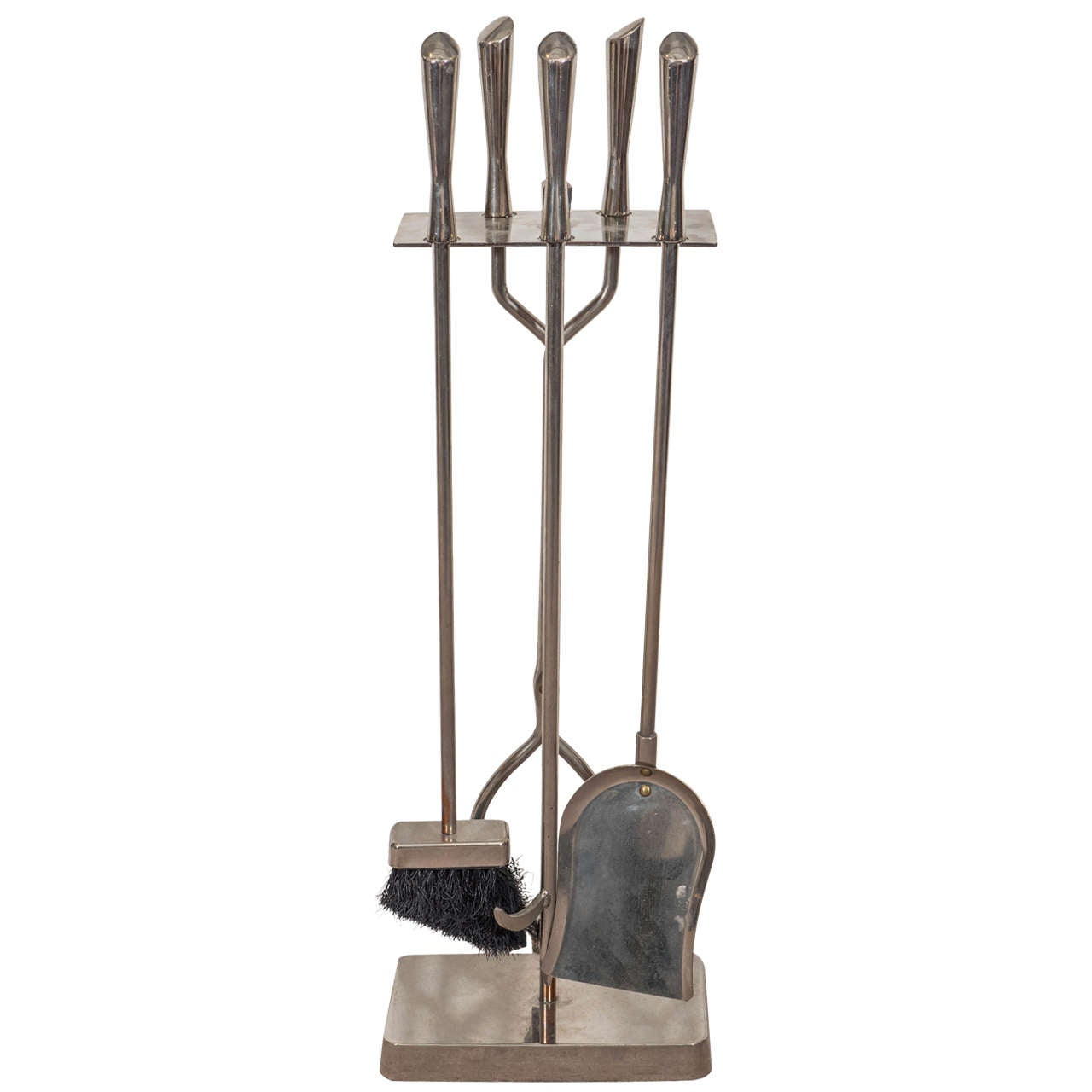 Set of Mid-Century Fireplace Tools in Chrome
