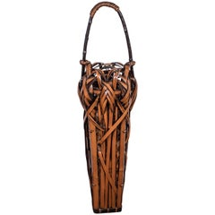 Meiji Period Japanese Bamboo Ikebana Basket