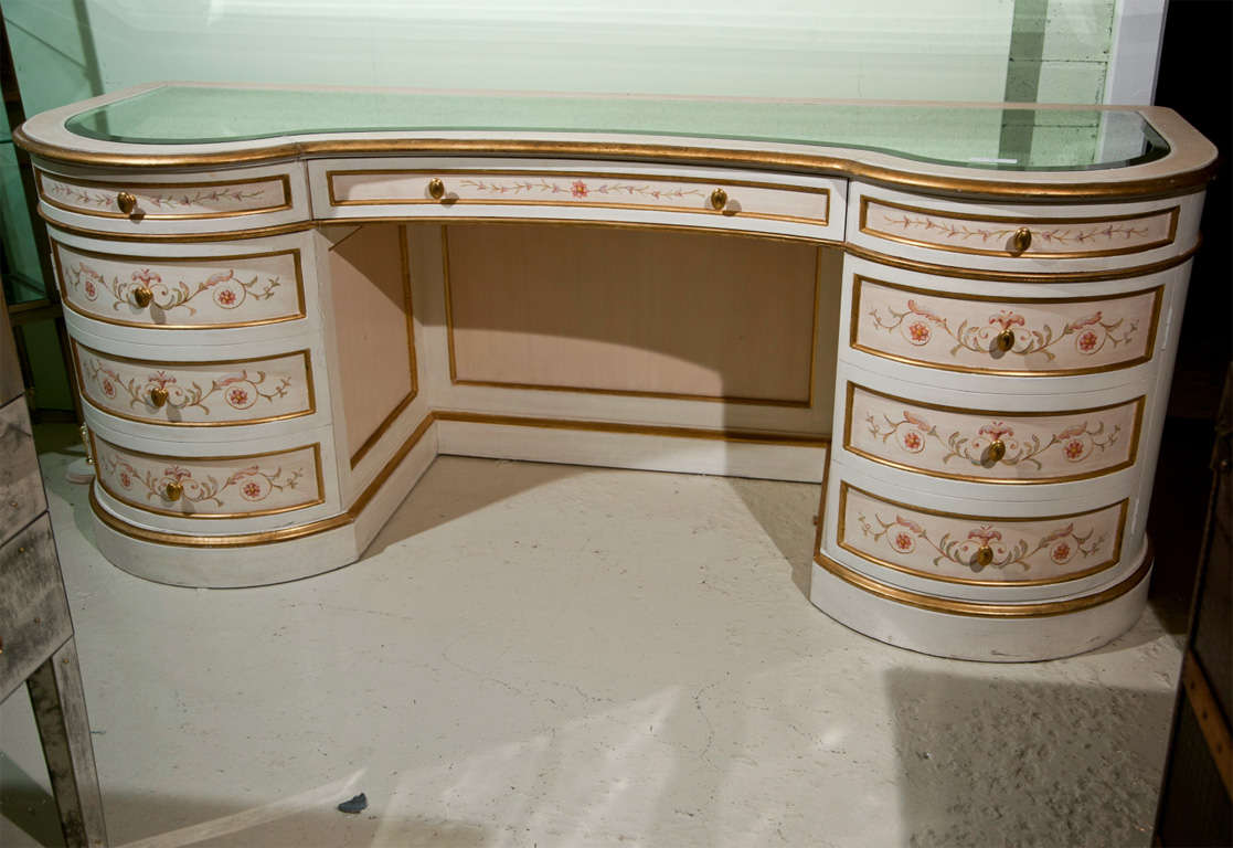 Painted French Vanity Table At 1stdibs