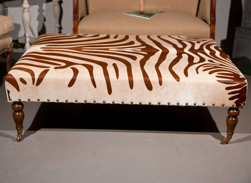 Cowhide Ottoman Coffee Table At 1stdibs