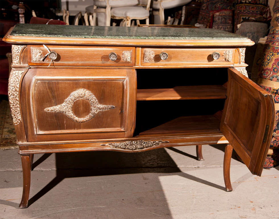 french empire style marble top sideboard for sale at 1stdibs. Black Bedroom Furniture Sets. Home Design Ideas