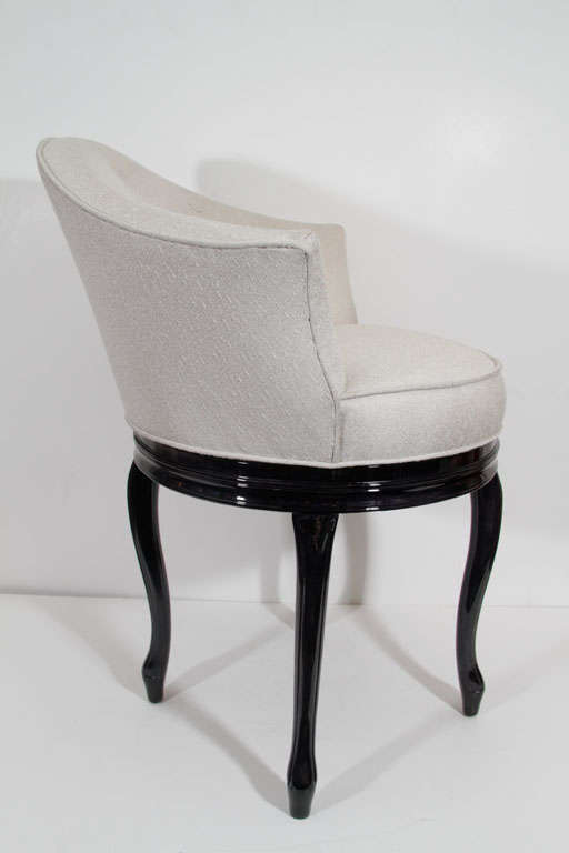 Glamorous 1940s Hollywood Swivel Seat Vanity Stool At 1stdibs