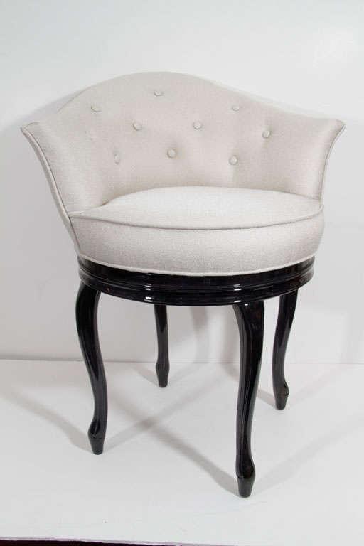 Glamorous 1940s Hollywood Swivel Seat Vanity Stool At 1stdibs