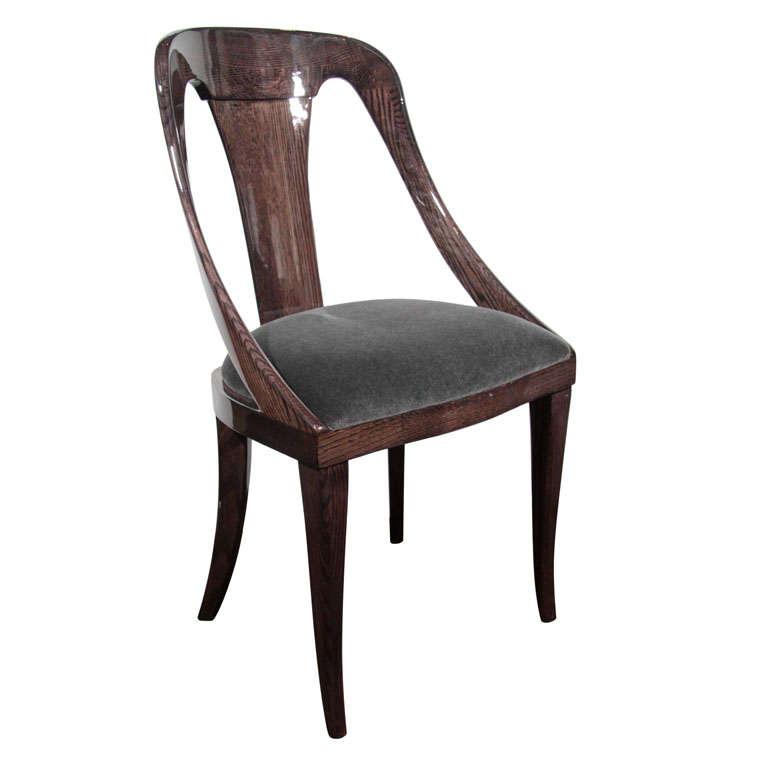 Modernist Mid Century Klismos Style Desk Chair at 1stdibs