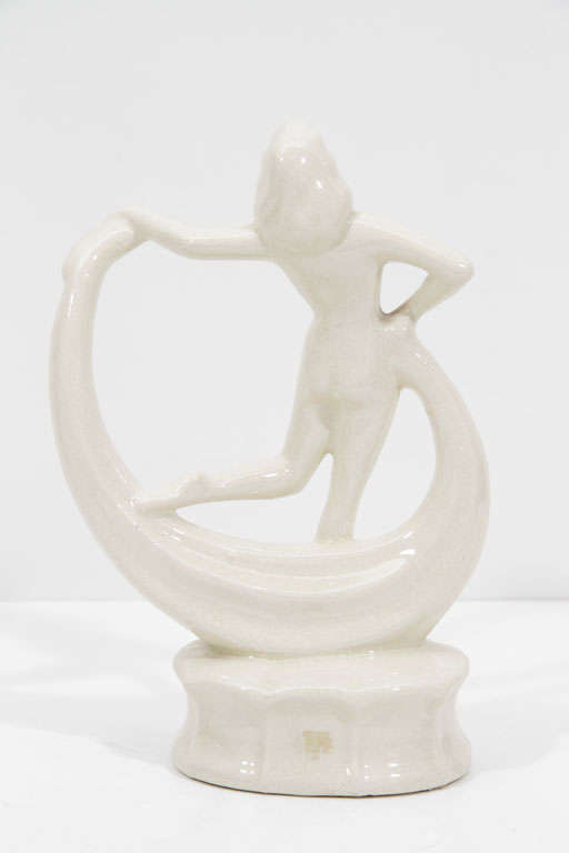 Art Deco Dancing Flapper Ceramic Sculpture image 5
