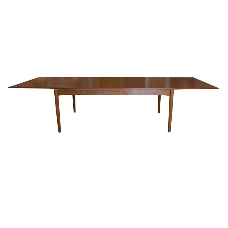 Hans Wegner attributed Dining Table with pull out leaves