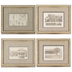Set of Four Architectural Engravings in the Manner of Piranesi