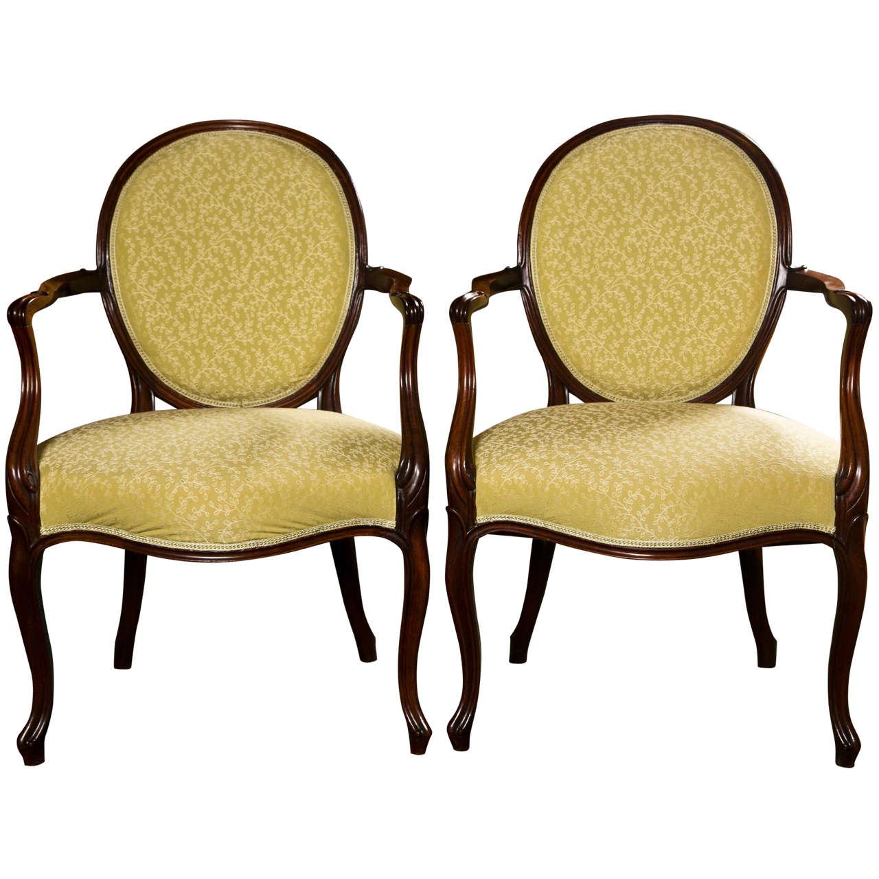 Pair of George III Armchairs