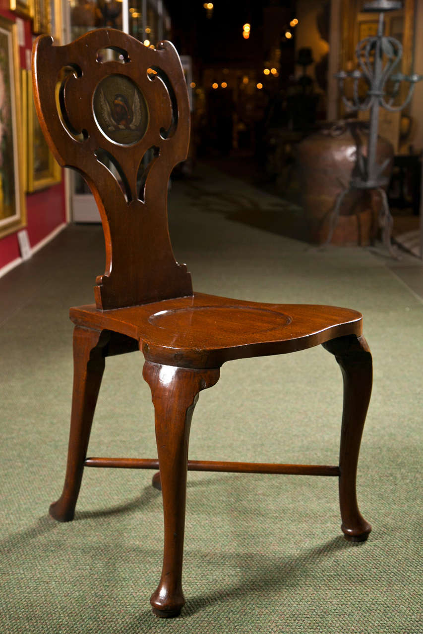 Pair of George III Hall Chairs In Excellent Condition For Sale In Stamford, CT
