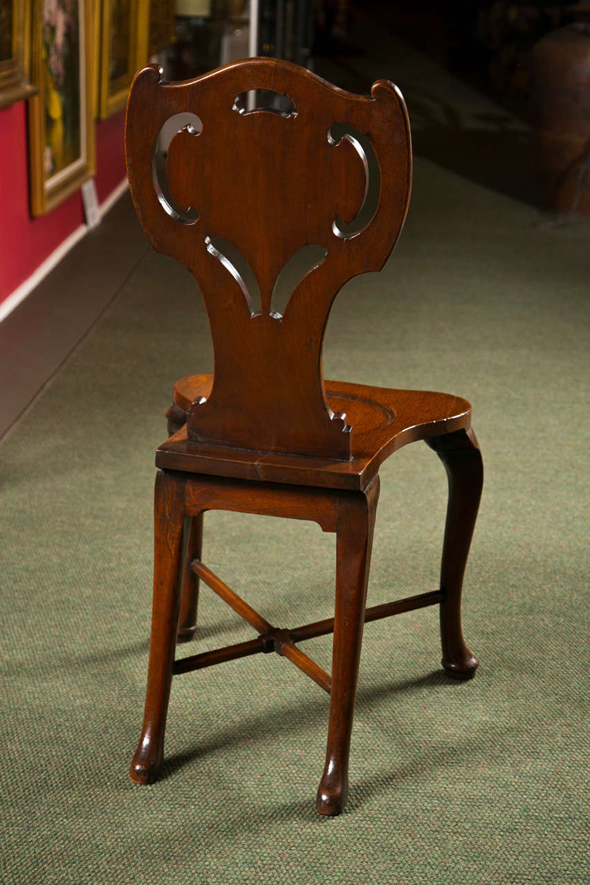 Pair of George III Hall Chairs For Sale 1