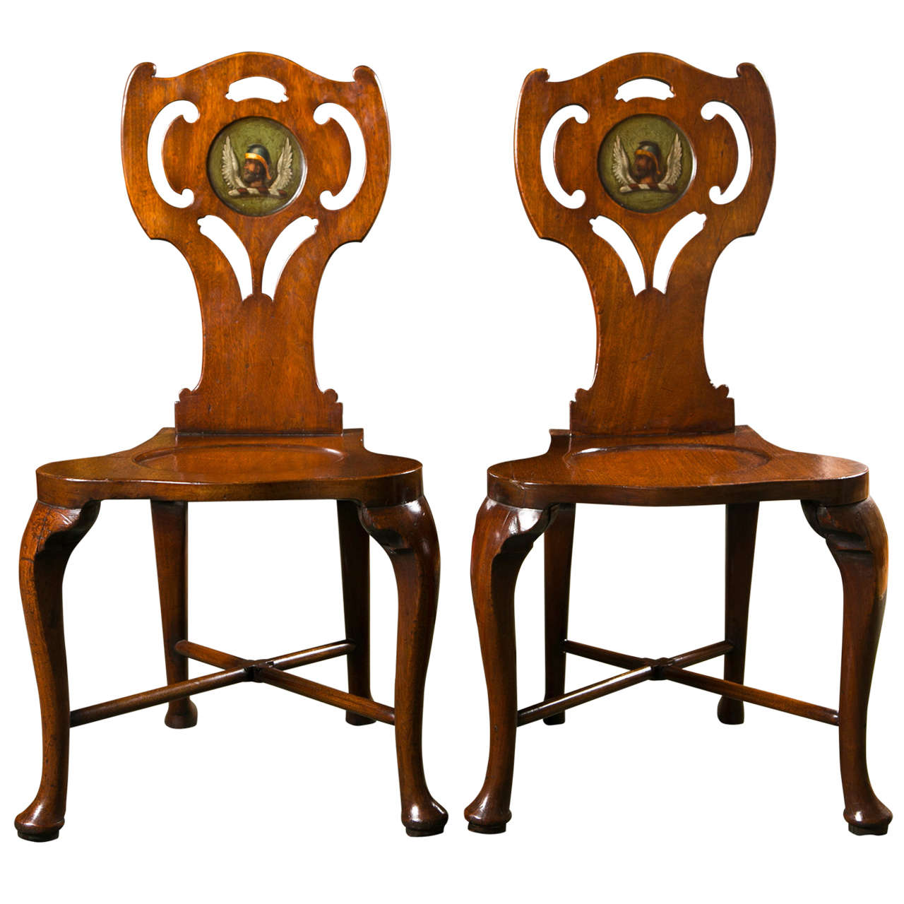 Pair of George III Hall Chairs For Sale