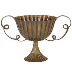 Josef Hoffmann Brass Two-Handled Coupe, 1925