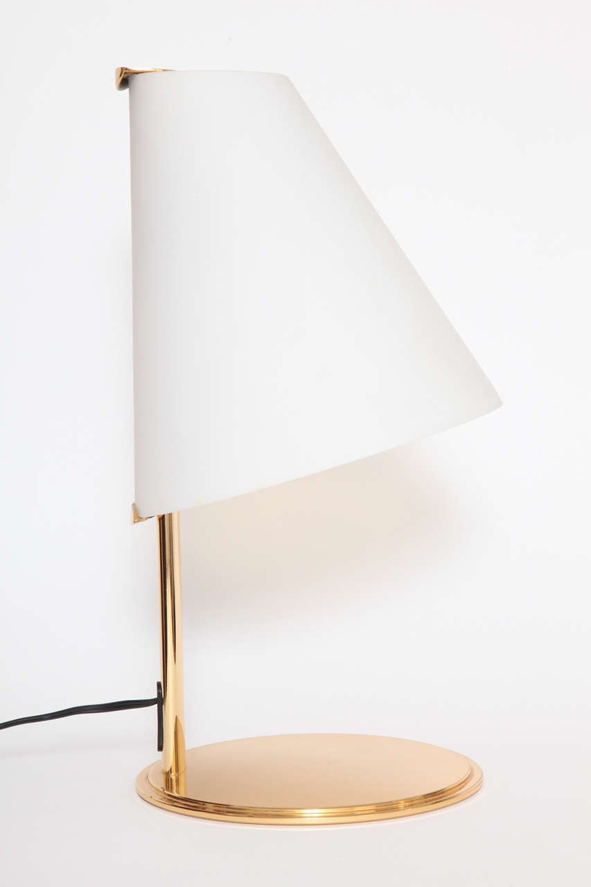 fontana arte brass and frosted glass table lamp for sale. Black Bedroom Furniture Sets. Home Design Ideas