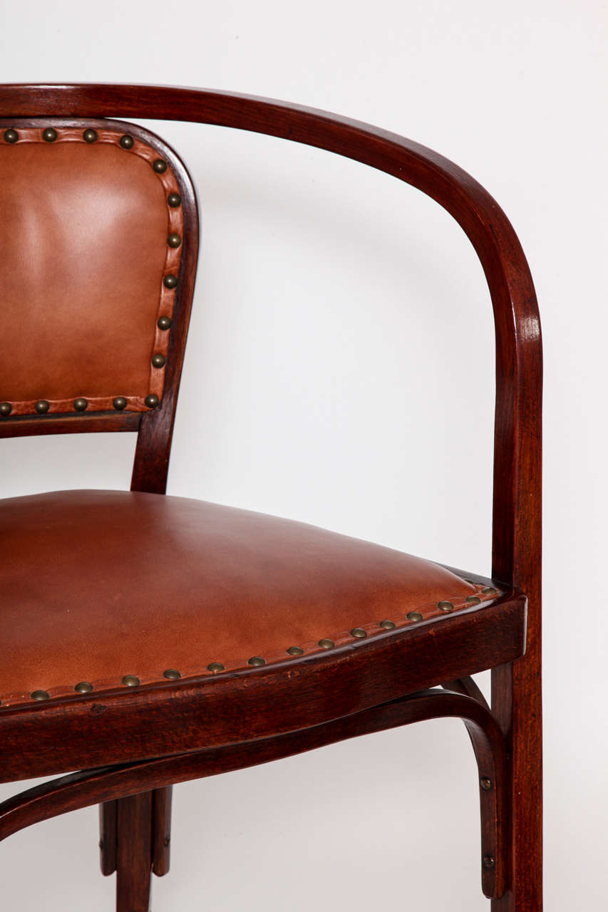 Vienna Secessionist Bentwood Chair Designed by Gustav Siegel In Excellent Condition For Sale In New York, NY