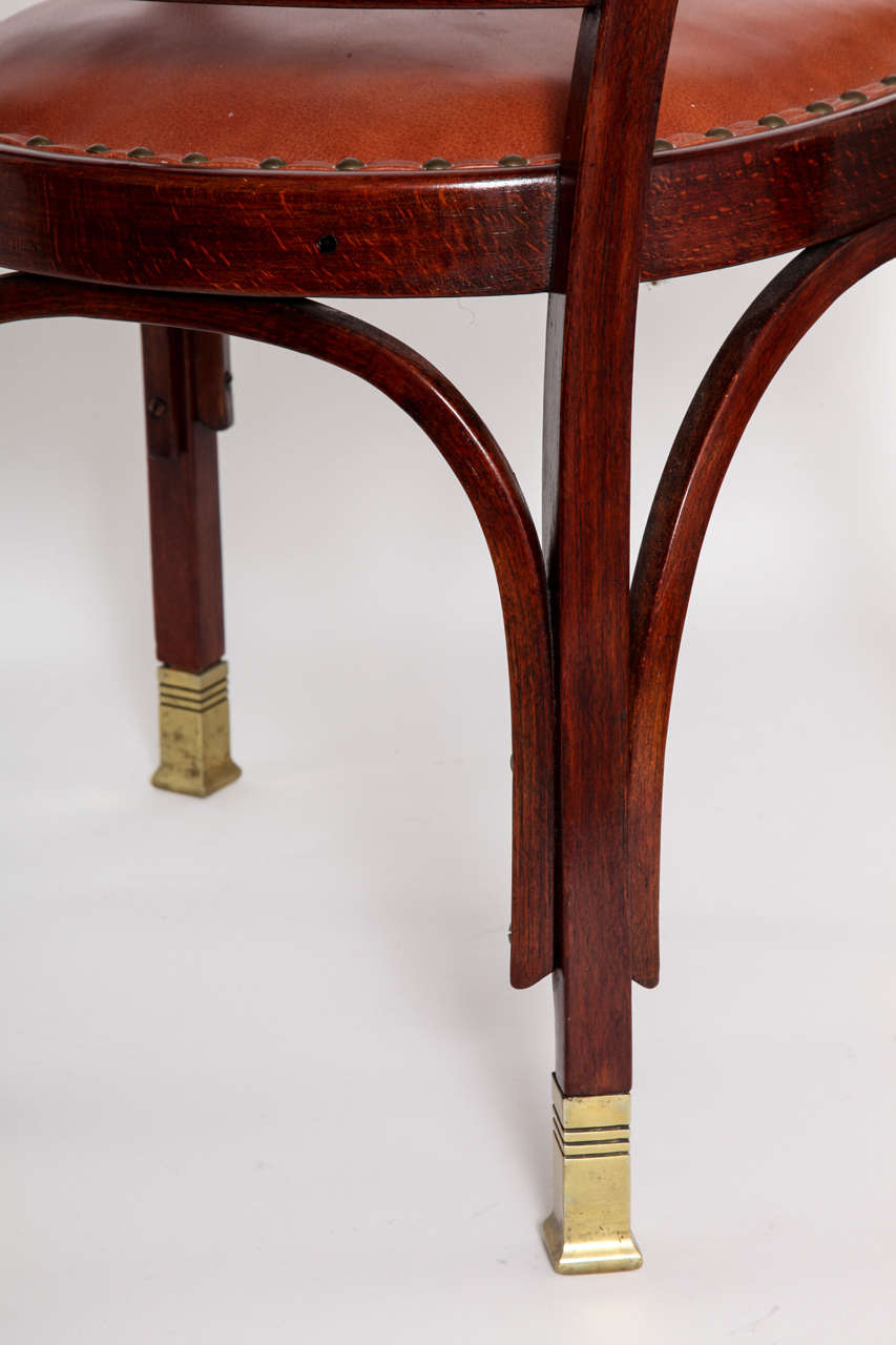 Vienna Secessionist Bentwood Chair Designed by Gustav Siegel For Sale 3