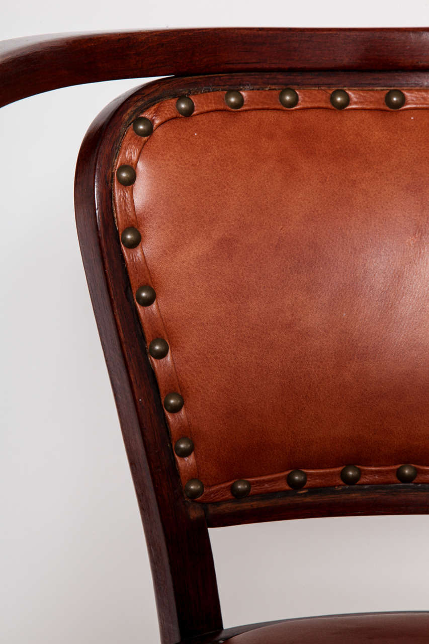 Vienna Secessionist Bentwood Chair Designed by Gustav Siegel For Sale 4