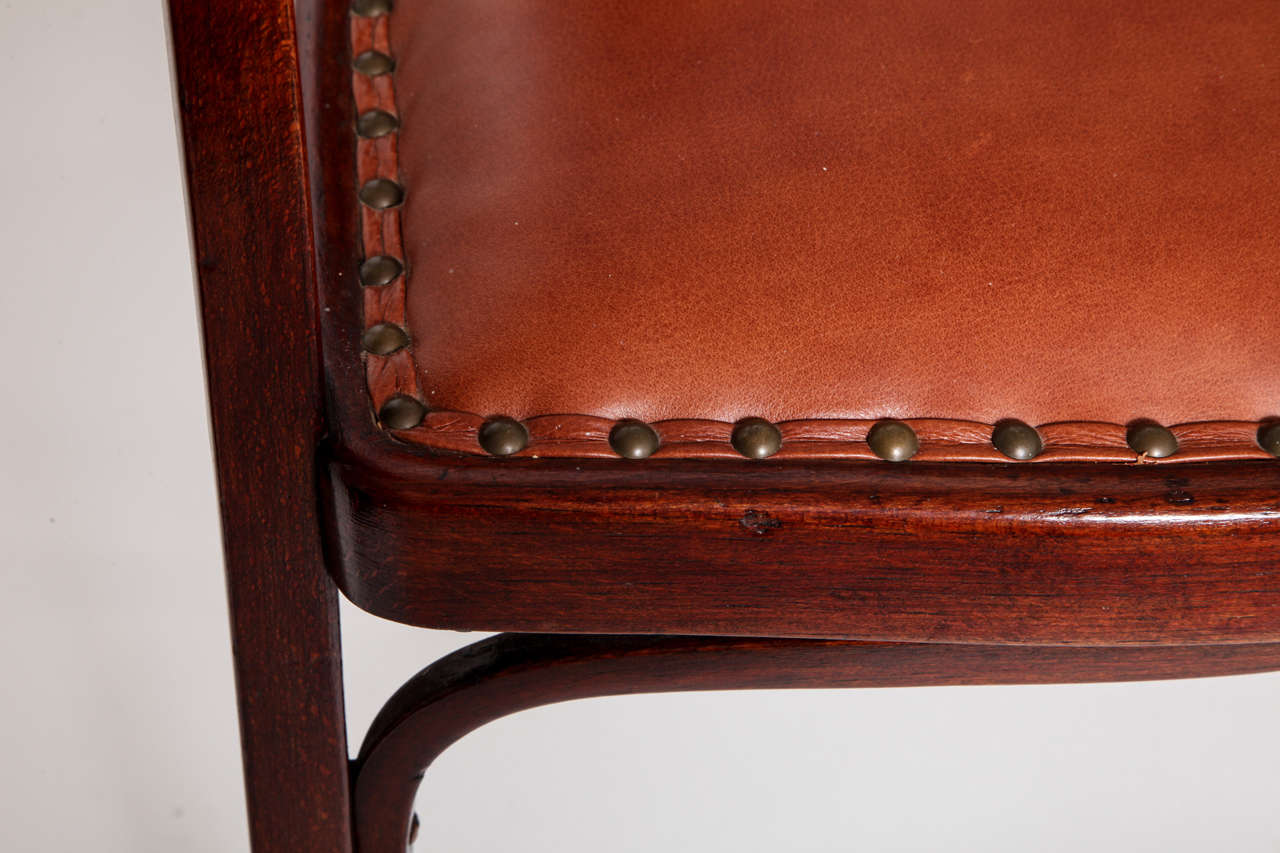 Vienna Secessionist Bentwood Chair Designed by Gustav Siegel For Sale 5