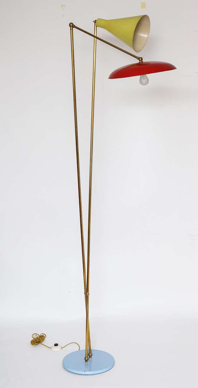 italian mid century modern floor lamp 1955 for sale at 1stdibs. Black Bedroom Furniture Sets. Home Design Ideas