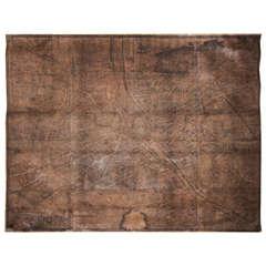 18th Century Footprint Paris Map