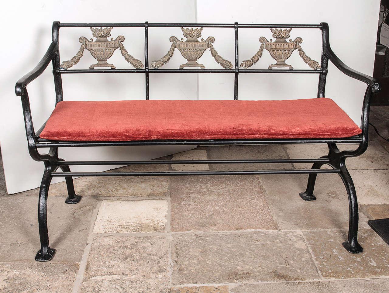 Set of cast iron and bronze garden furniture for sale at for Cast iron garden furniture