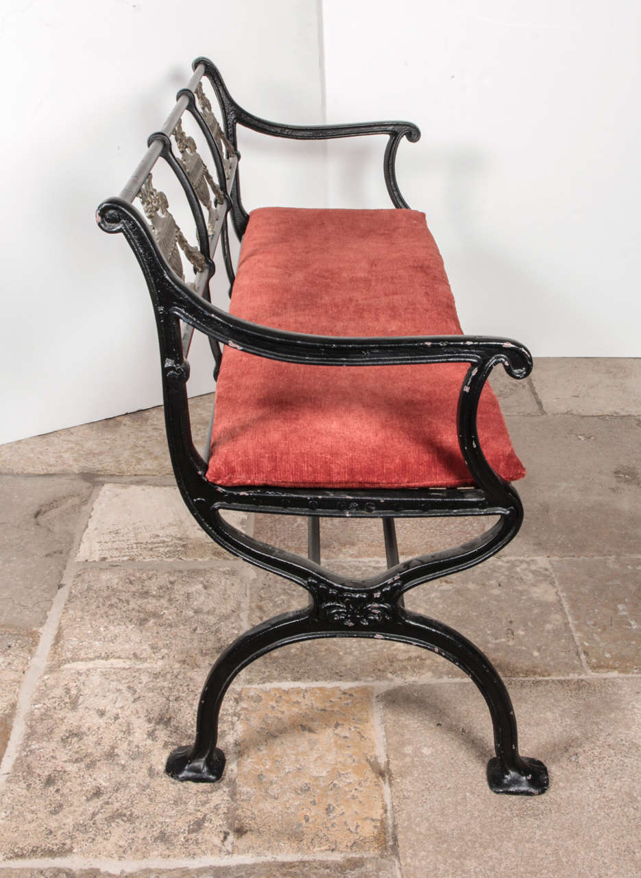 American Set of Cast Iron and Bronze Garden Furniture For Sale