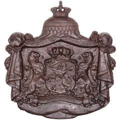 Dutch Cast Iron Coat of Arms