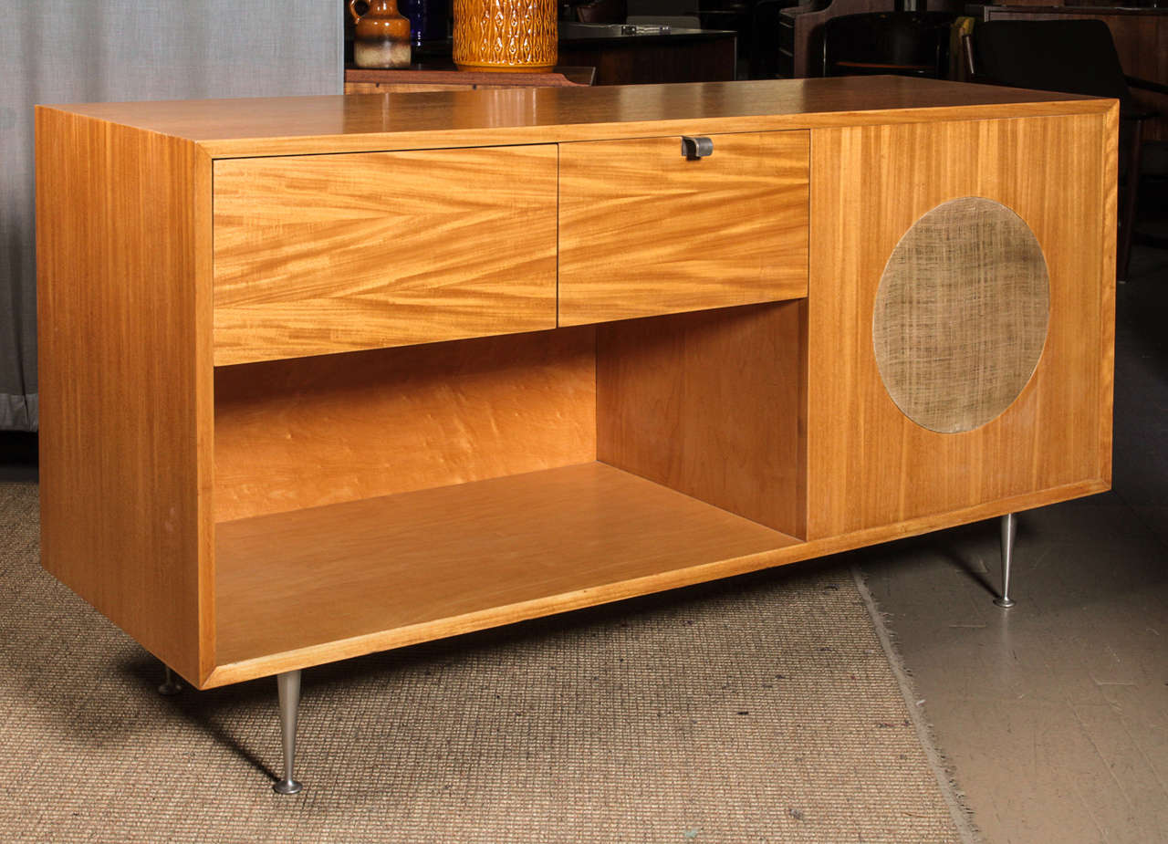 George Nelson Primavera Stereo Cabinet Manufactured by