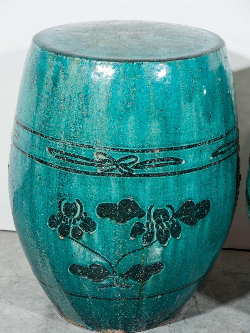 Ceramic Garden Stools C 1900 At 1stdibs