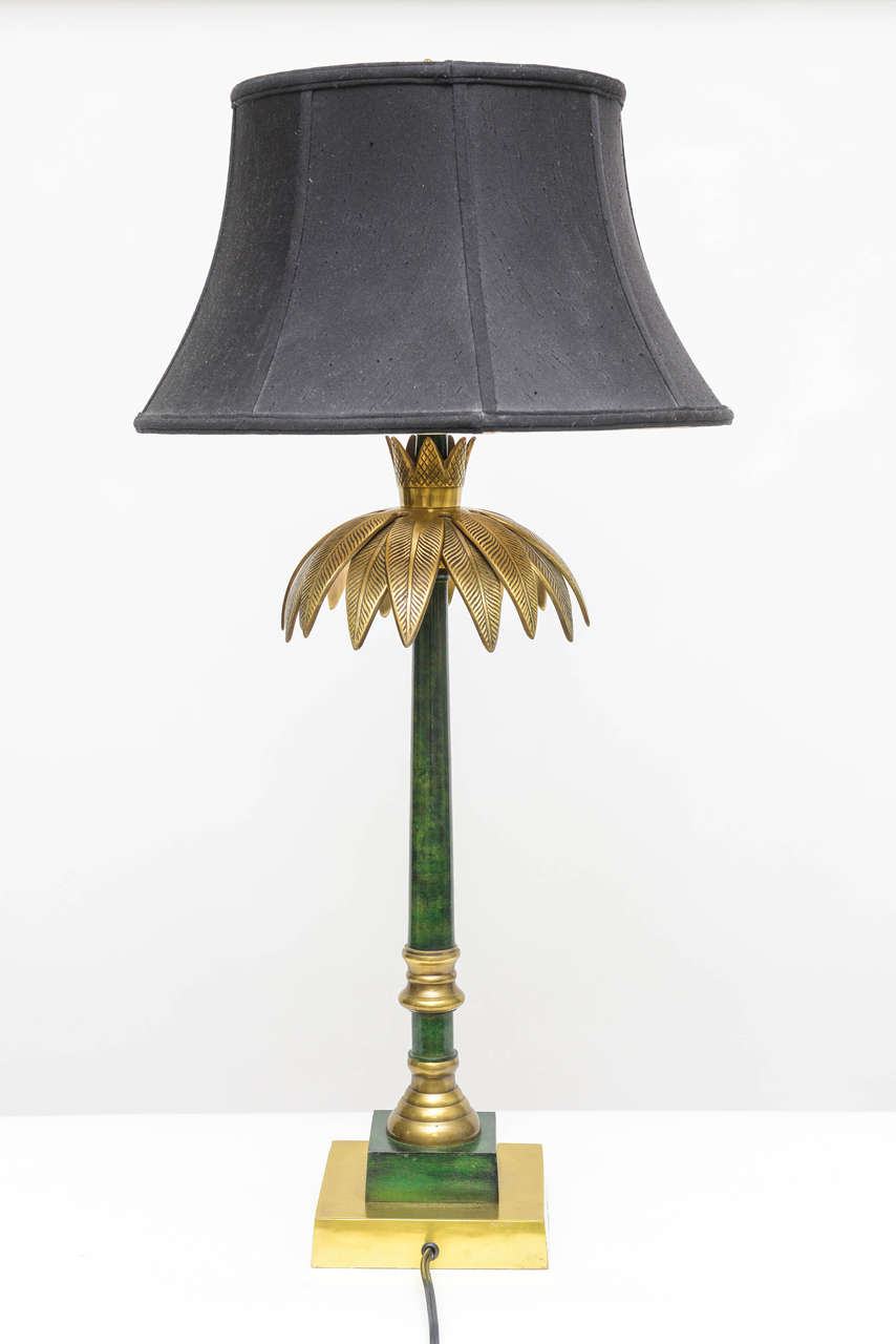 Palm Leaf Table Lamp by Wildwood For Sale 1