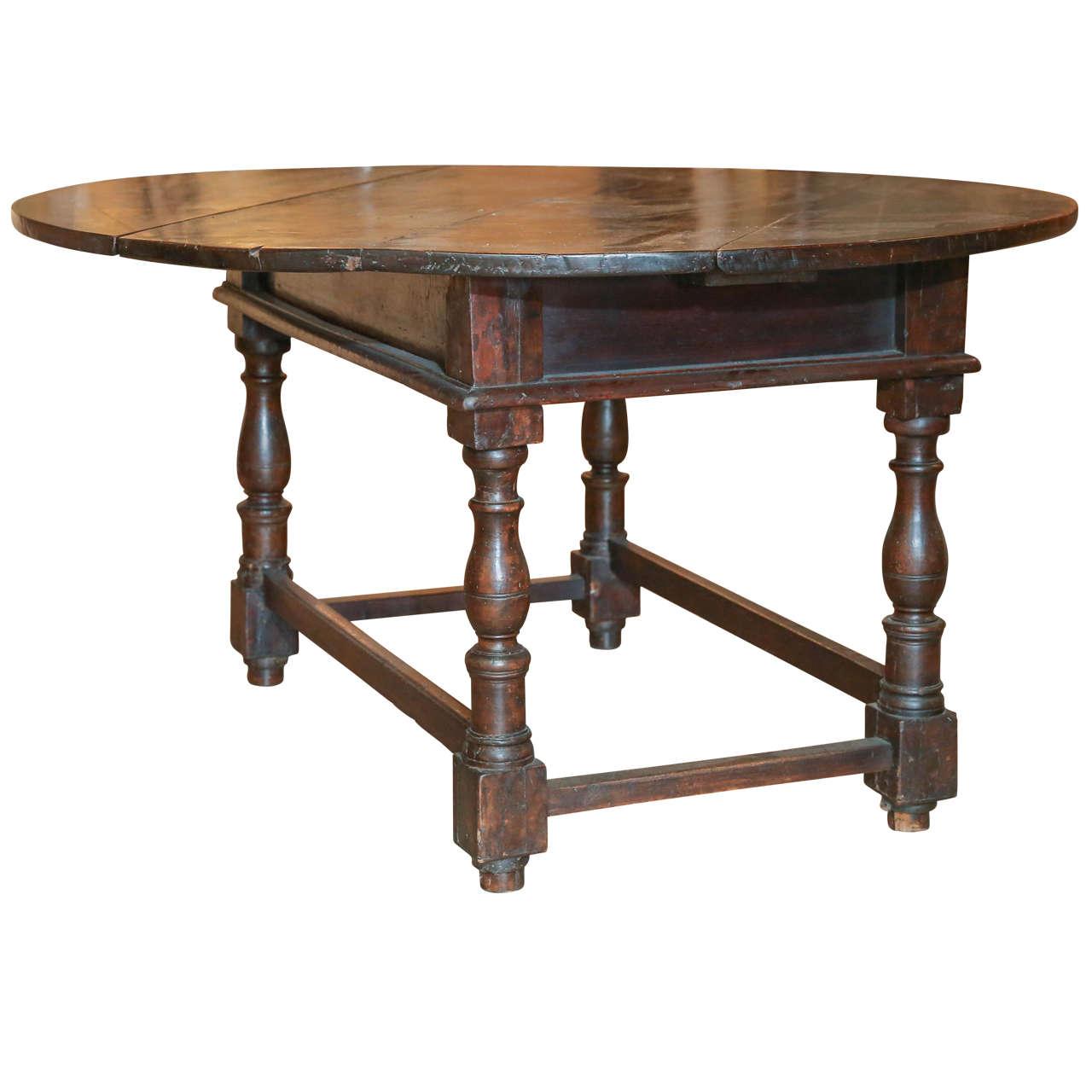 18th Century Italian Drop-Leaf Table at 1stdibs