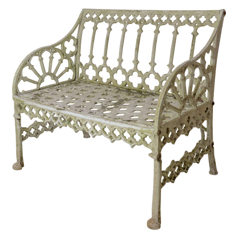 English Gothic Style Garden Bench At 1stdibs