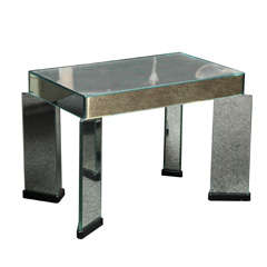 Art Deco Style Mirrored Table Designed and Made in Italy in 1980