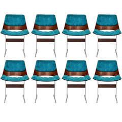 Jorge Zalszupin - 8 Rosewood dining chairs