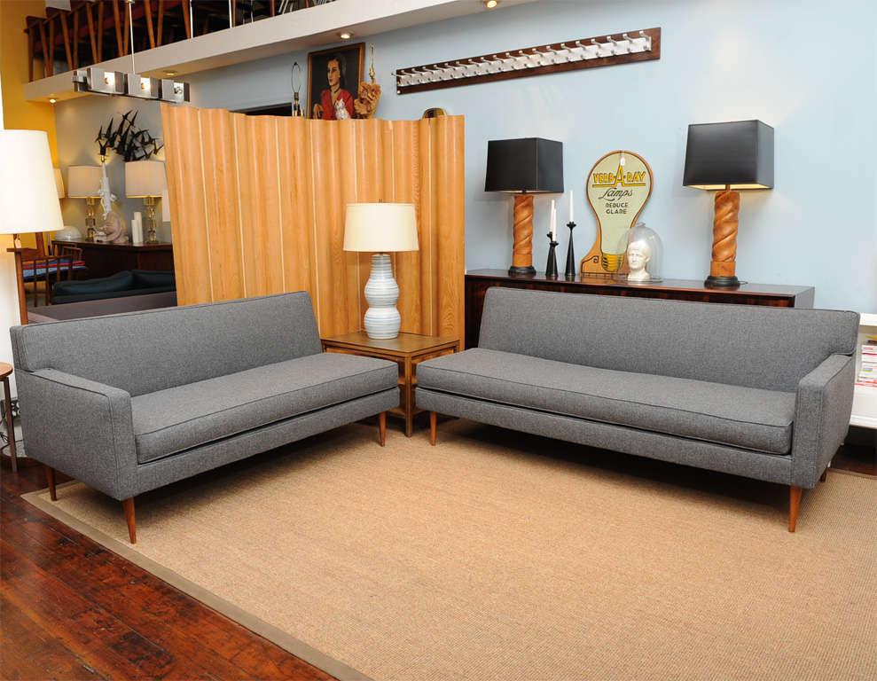 Paul McCobb design sectional sofa completely restored in Maharam wool.