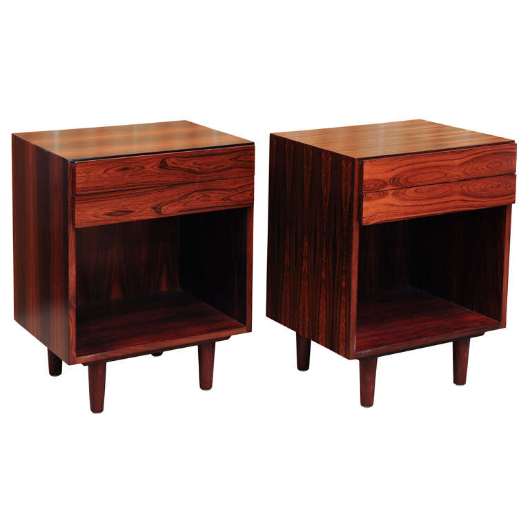 beautiful rosewood nightstands at 1stdibs