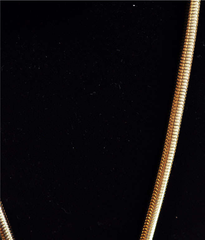 Lanvin Architectural Necklace with Original Snake Chain, circa 1970 In Good Condition For Sale In Winnetka, IL