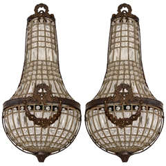 Pair of Large French Empire Sconces