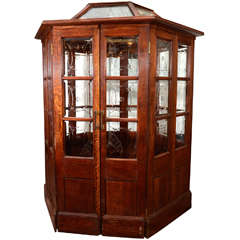 19th Century Oak Booth from London's Crystal Palace 1851