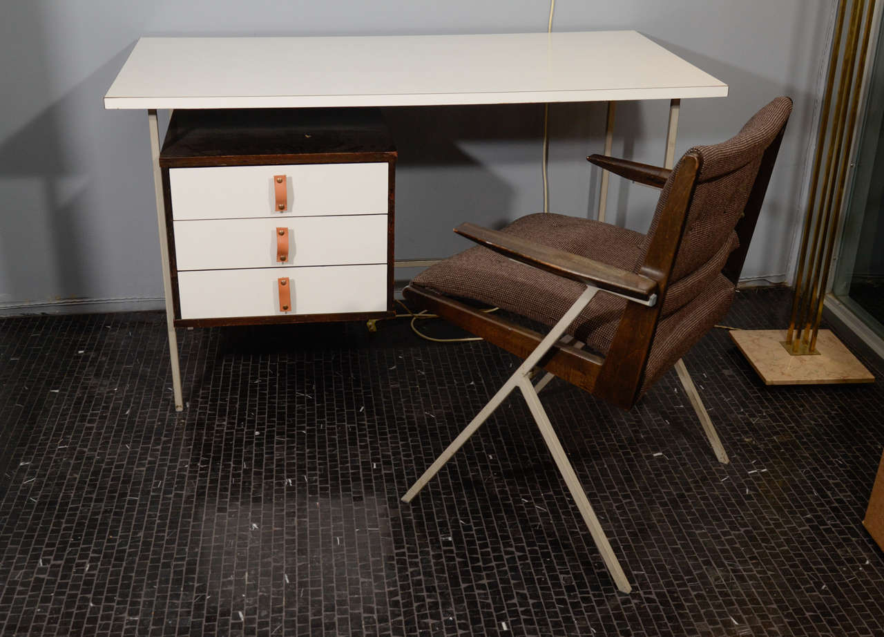 Rare Knoll And Drake Single Pedestal Desk With Matching Chair 1950u0027s. One  Of The