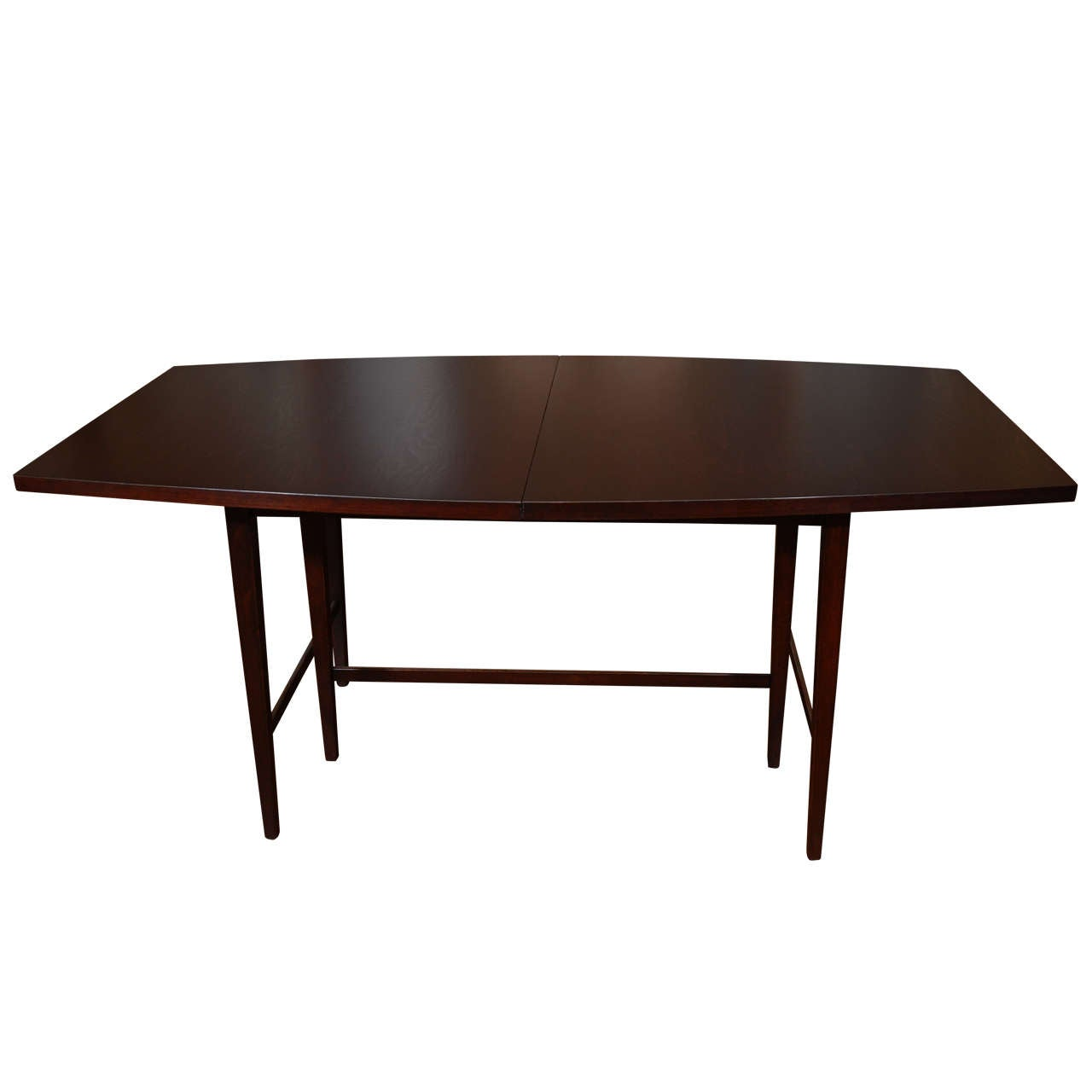 Ebonized paul mccobb dining table with leaf at 1stdibs for World best dining tables