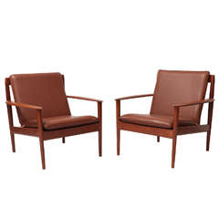 Pair of Grete Jalk Lounge Chairs