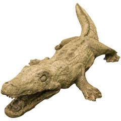Sculpture of an Alligator
