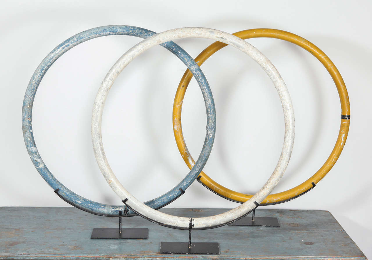 Vintage Circus Rings On Stand At 1stdibs